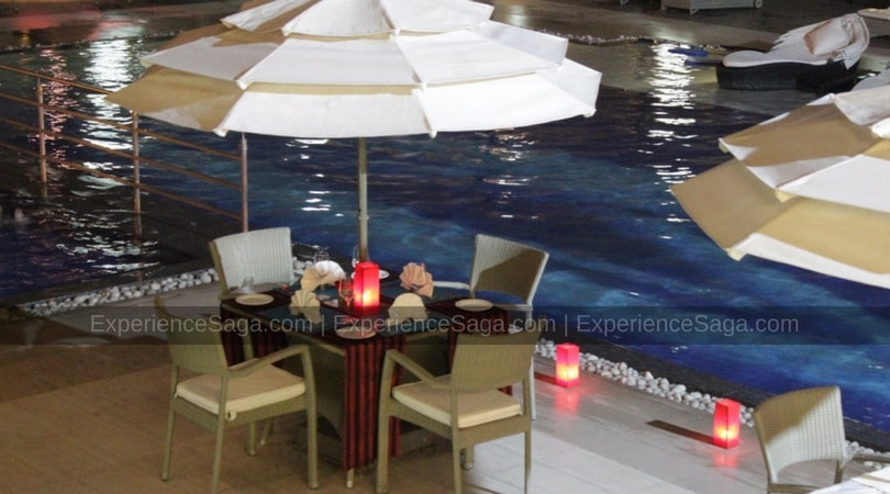 Poolside Candlelight Dinner at The Lalit