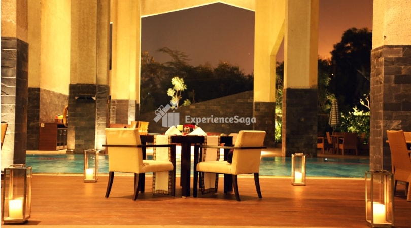 poolside candlelight dinner vivanta by taj experiencesaga
