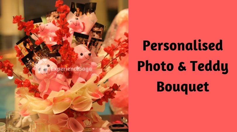 personalised photo and teddy bouquet delivery in delhi