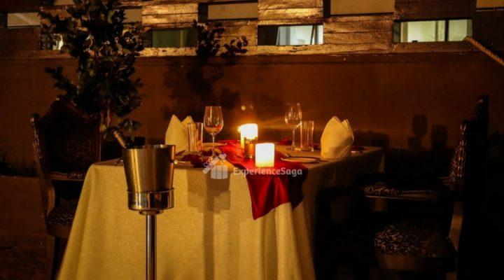 poolside candlelight dinner at sterlings mac bangalore