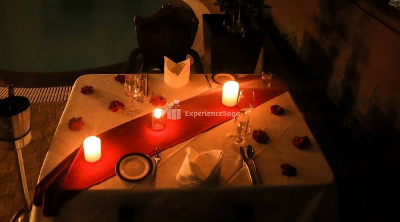 poolside candlelight dinner bangalore