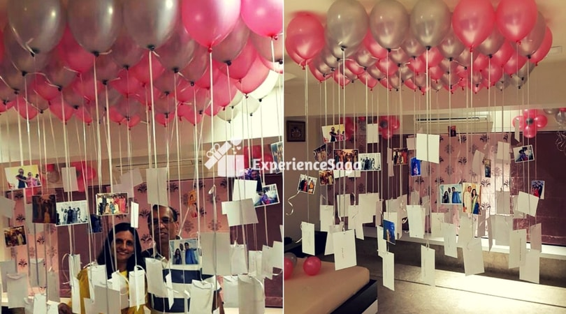 Balloon decoration at home mumbai rs 1800 for Balloon decoration at home