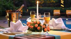 candlelight dinner in le meridien, a luxury 5 star hotel in bangalore