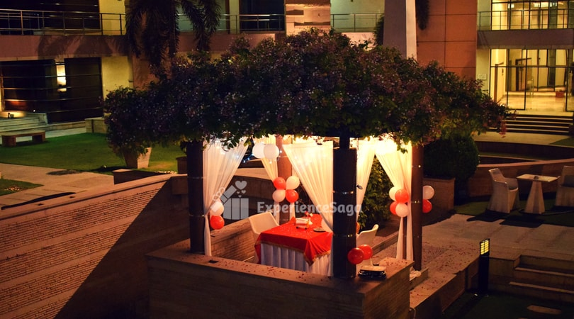 poolside cabana candlelight dinner noida