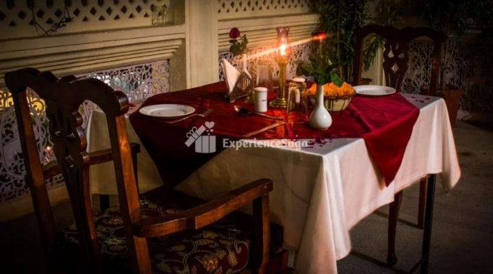 private terrace candlelight dinner harimahal jaipur