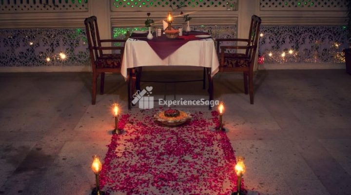 private candlelight dinner at harimahal jaipur