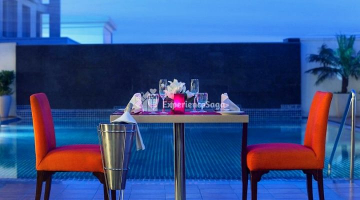 poolside candlelight dinner four points by sheraton tonk road jaipur