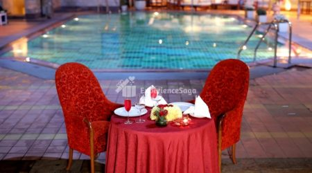 poolside candlelight dinner in new delhi