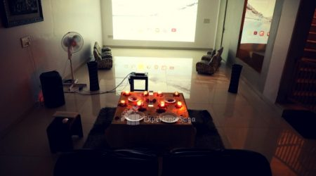 private candlelight dinner with movie gurgaon