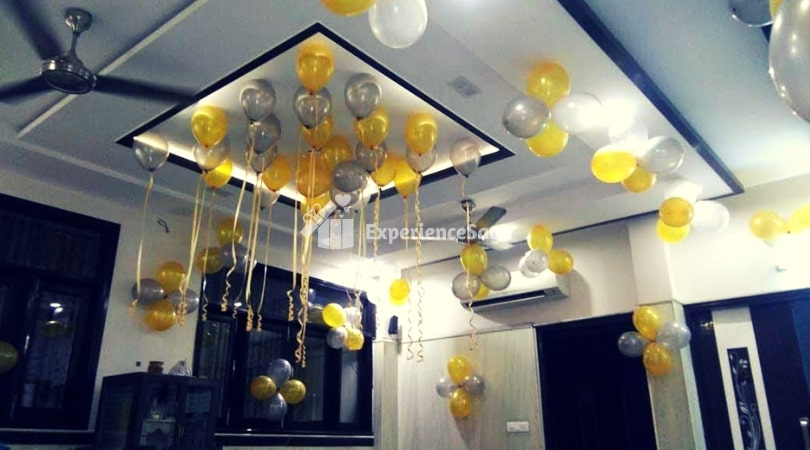 Balloon Decoration At Home Hyderabad Rs 1800 Experiencesaga Com