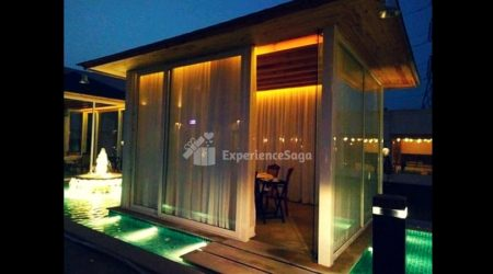 private cabana candlelight dinner in gurgaon