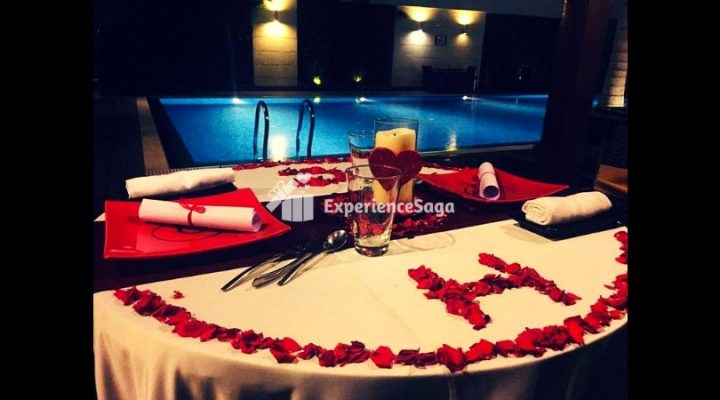 private poolside candlelight dinner hitech city, hyderabad | lemon tree
