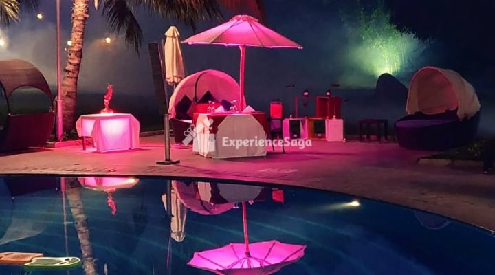 private poolside candlelight dinner in hyderabad novotel