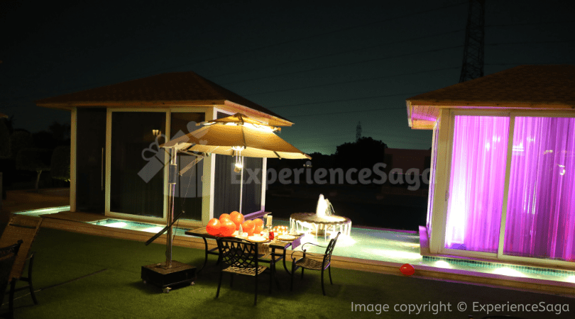 Outdoor Romantic Candlelight Dinner in Gurgaon | ExperienceSaga.com