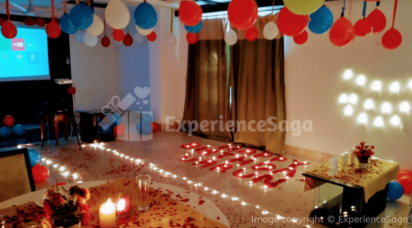 Private Candlelight Dinner with Movie Screening   ExperienceSaga.com