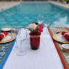 private poolside candlelight dinner in vasant kunj delhi